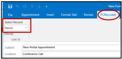 outlook_record_select